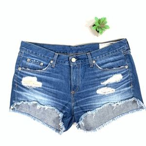 Rag & Bone/Jean distressed jean shorts size 29